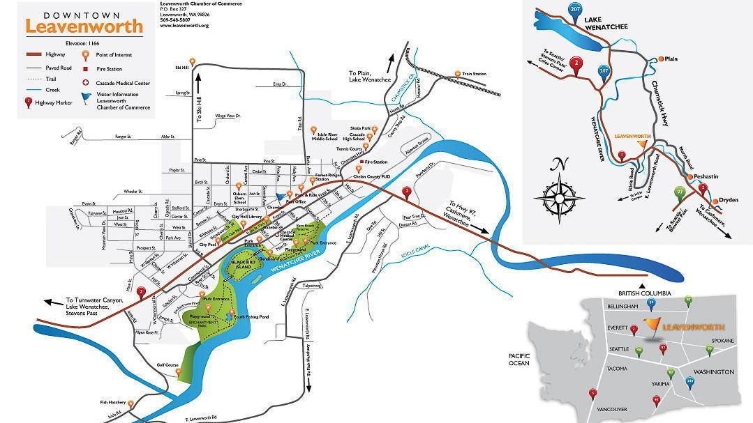 Maps Leavenworth Washington - Map of wa